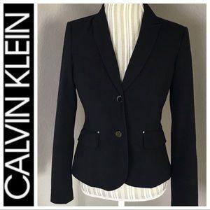 Women's Calvin Klein Navy Work Blazer Size 4 NWOT